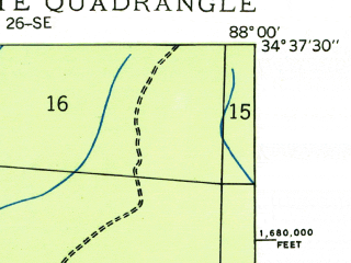 Reduced fragment of topographic map en--usgs--024k--035653--(1935)--N034-37-30_W088-07-30--N034-30-00_W088-00-00