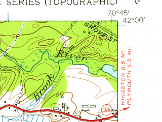 Reduced fragment of topographic map en--usgs--024k--035734--(1949)--N042-00-00_W070-52-30--N041-52-30_W070-45-00