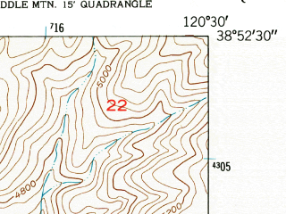 Reduced fragment of topographic map en--usgs--024k--035895--(1950)--N038-52-30_W120-37-30--N038-45-00_W120-30-00; towns and cities Pollock Pines