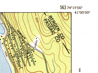 Reduced fragment of topographic map en--usgs--024k--035922--(1947)--N041-00-00_W074-22-30--N040-52-30_W074-15-00; towns and cities Lincoln Park, Pequannock Township, Butler, Fairfield, Riverdale