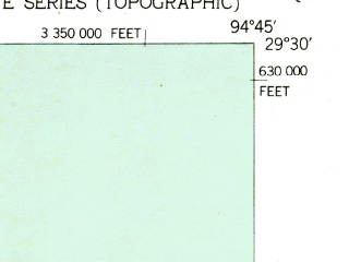 Reduced fragment of topographic map en--usgs--024k--036026--(1943)--N029-30-00_W094-52-30--N029-22-30_W094-45-00