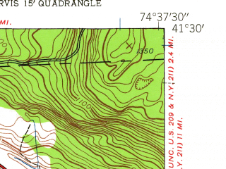 Reduced fragment of topographic map en--usgs--024k--036040--(1942)--N041-30-00_W074-45-00--N041-22-30_W074-37-30; towns and cities Port Jervis