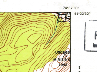 Reduced fragment of topographic map en--usgs--024k--036041--(1953)--N041-22-30_W074-45-00--N041-15-00_W074-37-30; towns and cities Matamoras