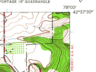 Reduced fragment of topographic map en--usgs--024k--036078--(1943)--N042-37-30_W078-07-30--N042-30-00_W078-00-00