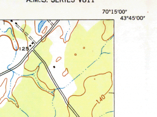 Reduced fragment of topographic map en--usgs--024k--036123--(1944)--N043-45-00_W070-22-30--N043-37-30_W070-15-00; towns and cities Portland, South Portland, Westbrook