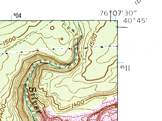 Reduced fragment of topographic map en--usgs--024k--036220--(1944)--N040-45-00_W076-15-00--N040-37-30_W076-07-30; towns and cities Pottsville, Schuylkill Haven, Mount Carbon, Palo Alto, Port Carbon