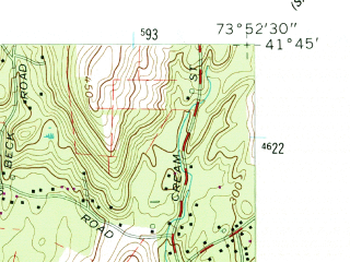 Reduced fragment of topographic map en--usgs--024k--036226--(1957)--N041-45-00_W074-00-00--N041-37-30_W073-52-30; towns and cities Poughkeepsie, Arlington, Crown Heights, Fairview, Highland
