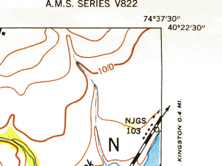 Reduced fragment of topographic map en--usgs--024k--036466--(1952)--N040-22-30_W074-45-00--N040-15-00_W074-37-30; towns and cities Princeton, Lawrenceville, Princeton North