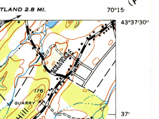 Reduced fragment of topographic map en--usgs--024k--036554--(1944)--N043-37-30_W070-22-30--N043-30-00_W070-15-00; towns and cities Scarborough
