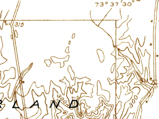 Reduced fragment of topographic map en--usgs--024k--036739--(1934)--N043-07-30_W073-45-00--N043-00-00_W073-37-30