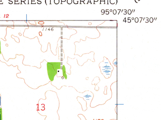 Reduced fragment of topographic map en--usgs--024k--037212--(1958)--N045-07-30_W095-15-00--N045-00-00_W095-07-30; towns and cities Raymond