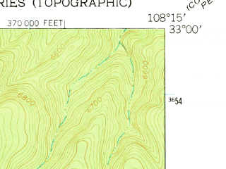 Reduced fragment of topographic map en--usgs--024k--037246--(1950)--N033-00-00_W108-22-30--N032-52-30_W108-15-00