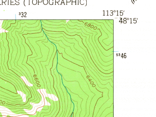 Reduced fragment of topographic map en--usgs--024k--037398--(1958)--N048-15-00_W113-22-30--N048-07-30_W113-15-00