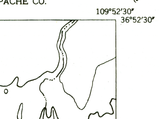 Reduced fragment of topographic map en--usgs--024k--037400--(1952)--N036-52-30_W110-00-00--N036-45-00_W109-52-30; towns and cities Dennehotso