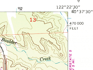 Reduced fragment of topographic map en--usgs--024k--037457--(1957)--N040-37-30_W122-30-00--N040-30-00_W122-22-30