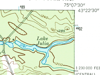 Reduced fragment of topographic map en--usgs--024k--037600--(1955)--N043-22-30_W075-15-00--N043-15-00_W075-07-30; towns and cities Prospect, Remsen, Barneveld