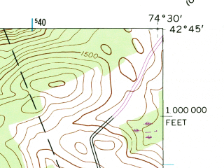 Reduced fragment of topographic map en--usgs--024k--037856--(1944)--N042-45-00_W074-37-30--N042-37-30_W074-30-00; towns and cities Richmondville
