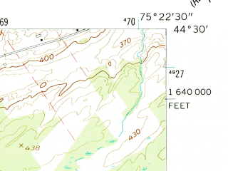 Reduced fragment of topographic map en--usgs--024k--037861--(1956)--N044-30-00_W075-30-00--N044-22-30_W075-22-30; towns and cities Richville