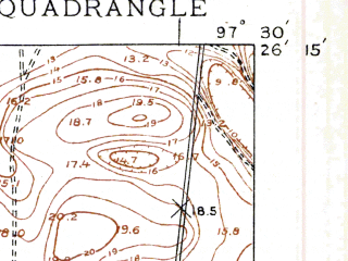 Reduced fragment of topographic map en--usgs--024k--037979--(1929)--N026-15-00_W097-37-30--N026-07-30_W097-30-00; towns and cities Rio Hondo
