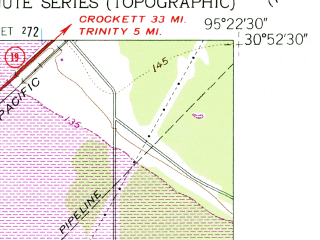 Reduced fragment of topographic map en--usgs--024k--038049--(1961)--N030-52-30_W095-30-00--N030-45-00_W095-22-30; towns and cities Riverside