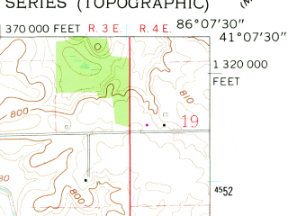 Reduced fragment of topographic map en--usgs--024k--038194--(1962)--N041-07-30_W086-15-00--N041-00-00_W086-07-30 in area of Lake Manitou; towns and cities Rochester