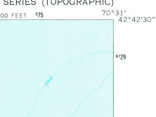 Reduced fragment of topographic map en--usgs--024k--038333--(1960)--N042-42-30_W070-38-30--N042-35-00_W070-31-00; towns and cities Rockport
