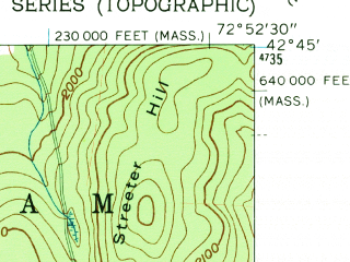 Reduced fragment of topographic map en--usgs--024k--038798--(1960)--N042-45-00_W073-00-00--N042-37-30_W072-52-30