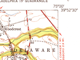 Reduced fragment of topographic map en--usgs--024k--038931--(1952)--N039-52-30_W075-07-30--N039-45-00_W075-00-00; towns and cities Bellmawr, Runnemede, Somerdale, Barrington, Magnolia