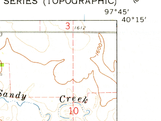 Reduced fragment of topographic map en--usgs--024k--038980--(1960)--N040-15-00_W097-52-30--N040-07-30_W097-45-00; towns and cities Ruskin
