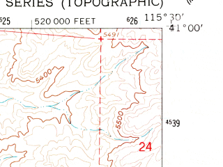 Reduced fragment of topographic map en--usgs--024k--039082--(1962)--N041-00-00_W115-37-30--N040-52-30_W115-30-00