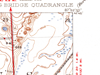 Reduced fragment of topographic map en--usgs--024k--039166--(1928)--N041-45-00_W088-00-00--N041-37-30_W087-52-30; towns and cities Darien, Lemont, Willow Springs