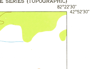 Reduced fragment of topographic map en--usgs--024k--039242--(1952)--N042-52-30_W082-30-00--N042-45-00_W082-22-30; towns and cities St. Clair