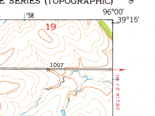 Reduced fragment of topographic map en--usgs--024k--039349--(1953)--N039-15-00_W096-07-30--N039-07-30_W096-00-00; towns and cities St. Marys