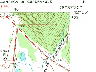 Reduced fragment of topographic map en--usgs--024k--039412--(1961)--N042-15-00_W078-45-00--N042-07-30_W078-37-30; towns and cities Salamanca