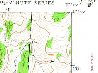 Reduced fragment of topographic map en--usgs--024k--039433--(1944)--N043-15-00_W073-22-30--N043-07-30_W073-15-00; towns and cities Salem