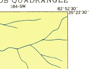 Reduced fragment of topographic map en--usgs--024k--039549--(1935)--N035-22-30_W083-00-00--N035-15-00_W082-52-30