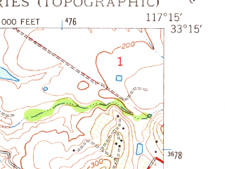 Reduced fragment of topographic map en--usgs--024k--039666--(1948)--N033-15-00_W117-22-30--N033-07-30_W117-15-00 in area of Agua Hedionda, Buena Vista Lagoon; towns and cities Oceanside, Camp Pendleton South