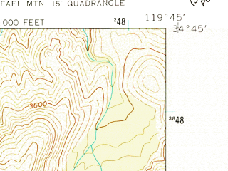 Reduced fragment of topographic map en--usgs--024k--039703--(1959)--N034-45-00_W119-52-30--N034-37-30_W119-45-00