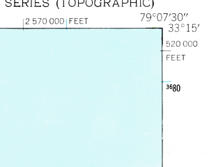 Reduced fragment of topographic map en--usgs--024k--039937--(1942)--N033-15-00_W079-15-00--N033-07-30_W079-07-30