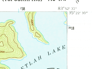 Reduced fragment of topographic map en--usgs--024k--039938--(1940)--N035-22-30_W084-00-00--N035-15-00_W083-52-30
