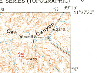 Reduced fragment of topographic map en--usgs--024k--039992--(1952)--N041-37-30_W099-22-30--N041-30-00_W099-15-00