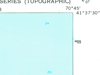 Reduced fragment of topographic map en--usgs--024k--040264--(1962)--N041-37-30_W070-52-30--N041-30-00_W070-45-00
