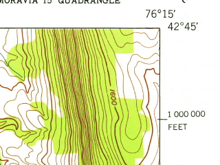 Reduced fragment of topographic map en--usgs--024k--040554--(1943)--N042-45-00_W076-22-30--N042-37-30_W076-15-00
