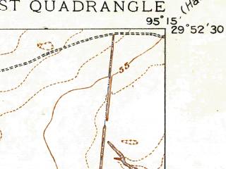 Reduced fragment of topographic map en--usgs--024k--040615--(1916)--N029-52-30_W095-22-30--N029-45-00_W095-15-00