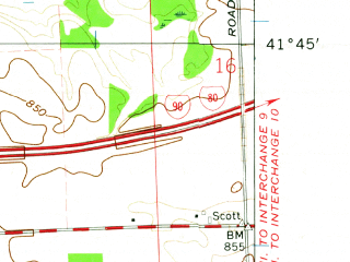 Reduced fragment of topographic map en--usgs--024k--041128--(1961)--N041-45-00_W085-37-30--N041-37-30_W085-30-00; towns and cities Shipshewana
