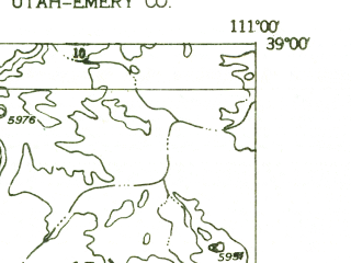 Reduced fragment of topographic map en--usgs--024k--041177--(1953)--N039-00-00_W111-07-30--N038-52-30_W111-00-00