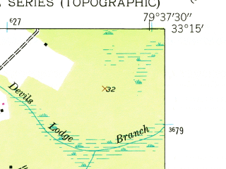 Reduced fragment of topographic map en--usgs--024k--041220--(1943)--N033-15-00_W079-45-00--N033-07-30_W079-37-30