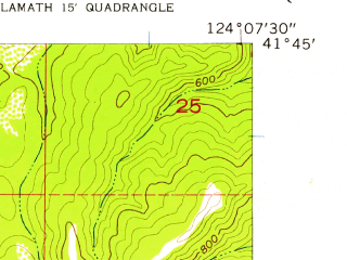 Reduced fragment of topographic map en--usgs--024k--041517--(1956)--N041-45-00_W124-15-00--N041-37-30_W124-07-30