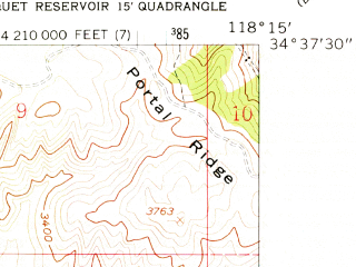 Reduced fragment of topographic map en--usgs--024k--041693--(1958)--N034-37-30_W118-22-30--N034-30-00_W118-15-00