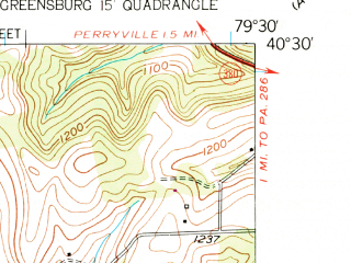 Reduced fragment of topographic map en--usgs--024k--041698--(1954)--N040-30-00_W079-37-30--N040-22-30_W079-30-00; towns and cities Delmont, Export